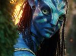 Neytiri (Zoe Saldana) in the movie  AVATAR .20th Century Fox