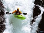 Pro Kayaker Brad Ludden, Running a Waterfall, Rattlesnake Creek, California.jpg