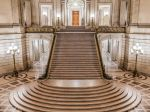 I can't get enough of the San Francisco city hall. When they build it they must have been very mindful to what intrigues us, what makes our eyes explore the vista before us. The repeating patterns, the swirling circles, the little pathways going to their mysterious places. Just beautiful.