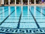 The Neptune Pool at Hearst Castle was rebuilt three times to suit its owner's tastes. Its centerpiece is the façade of an ancient Roman temple Hearst imported to California.